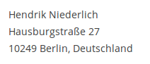 Hendrik Niederlich, Hausburgstr. 27, 10249 Berlin